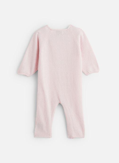 Vêtements Bobine Combinaison Bébé Cœur Rose vue bas / vue portée sac