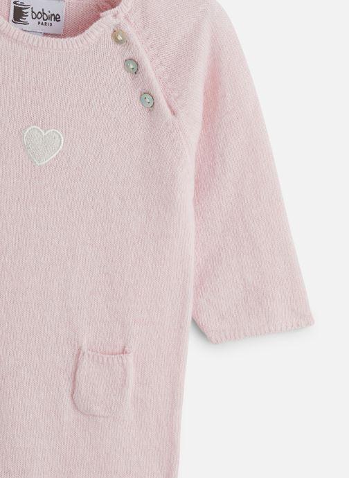Vêtements Bobine Combinaison Bébé Cœur Rose vue portées chaussures