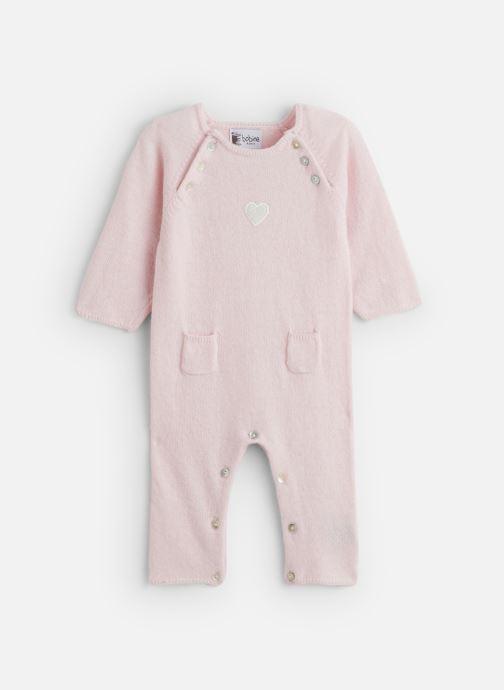 Vêtements Bobine Combinaison Bébé Cœur Rose vue détail/paire