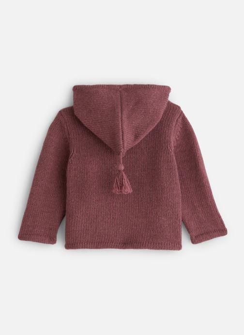Vêtements Bobine Veste capuche Bordeaux vue bas / vue portée sac