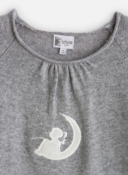 Vêtements Bobine Pull col rond Lune Gris vue portées chaussures