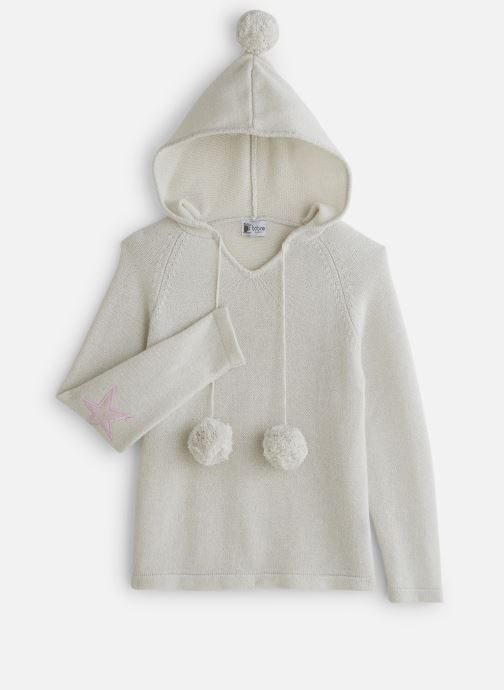 Vêtements Bobine Pull Capuche Blanc vue détail/paire