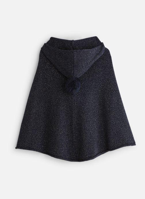 Vêtements Bobine Poncho Capuche PomPom Bleu vue bas / vue portée sac