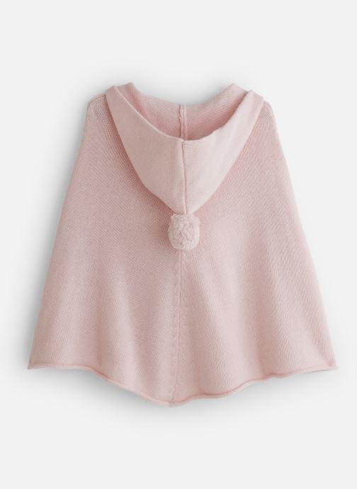 Vêtements Bobine Poncho Capuche PomPom Rose vue bas / vue portée sac