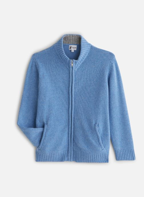 Vêtements Bobine Gilet Zippé Bleu vue détail/paire