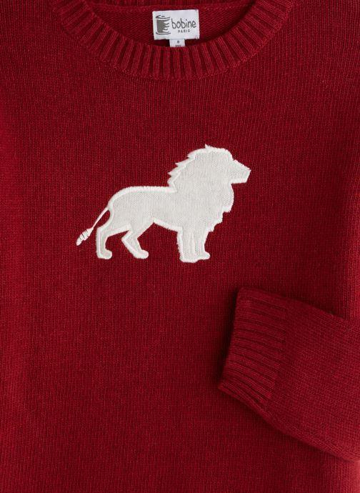 Vêtements Bobine Pull Boy Lion Rouge vue portées chaussures