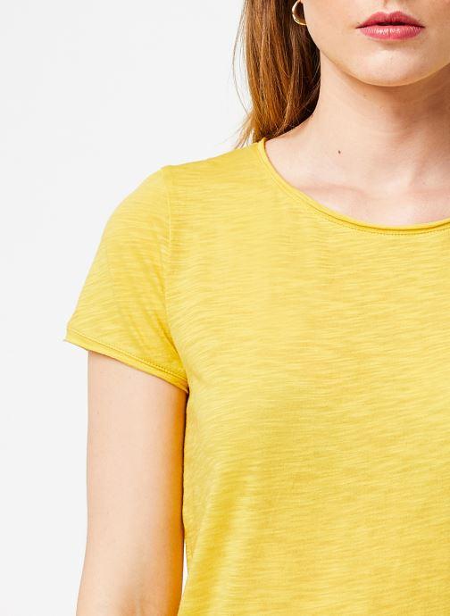Vêtements Marie Sixtine T-SHIRT LILI Jaune vue face