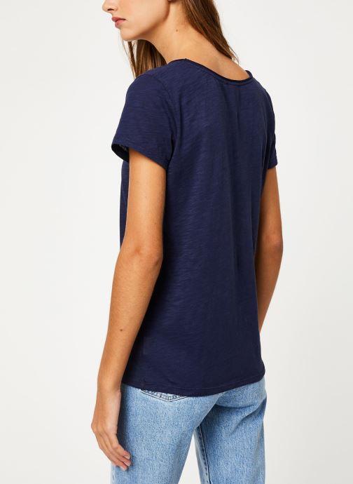 Vêtements Marie Sixtine T-SHIRT NOE Bleu vue portées chaussures