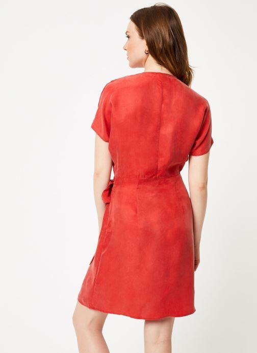 Vêtements Marie Sixtine DRESS LISETTE Rouge vue portées chaussures