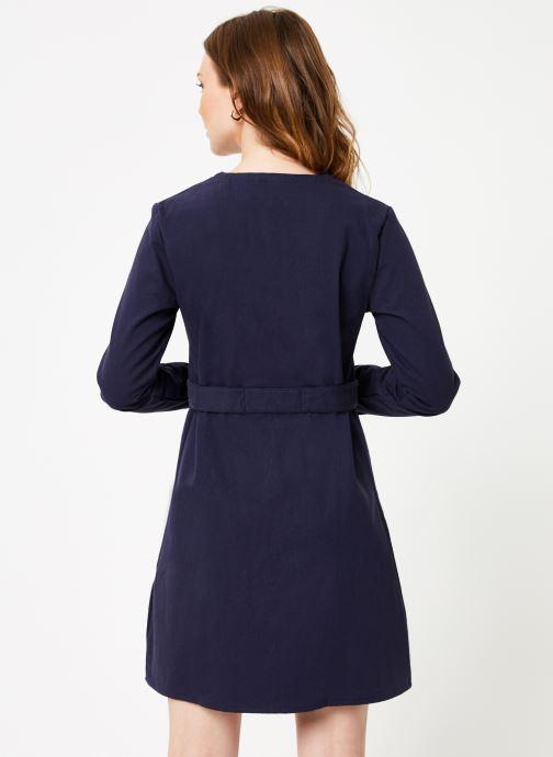 Vêtements Marie Sixtine DRESS MARISE Bleu vue portées chaussures