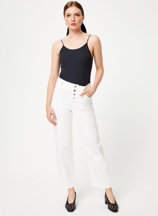 Vêtements Marie Sixtine PANTS ANDREA Blanc vue bas / vue portée sac