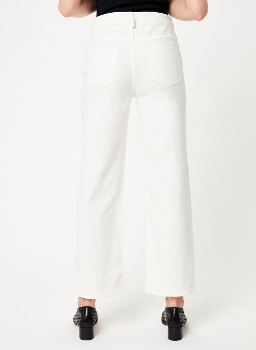 Vêtements Marie Sixtine PANTS ANDREA Blanc vue portées chaussures