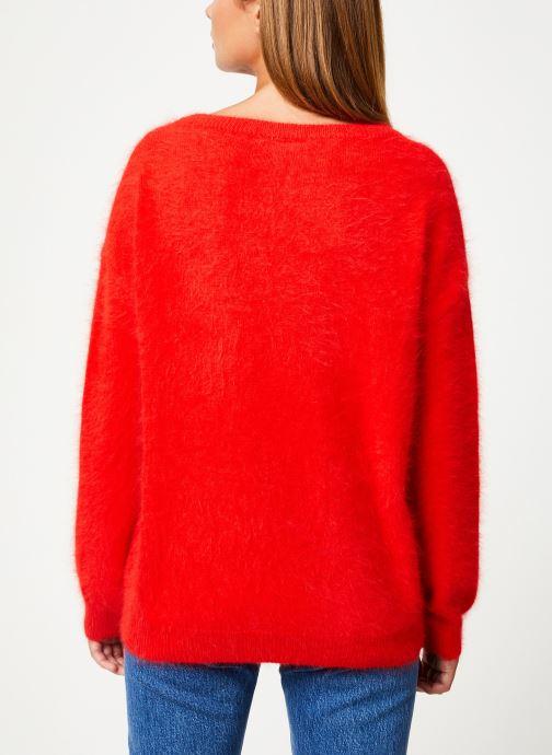 Vêtements Marie Sixtine SWEATER EDWARD Rouge vue portées chaussures