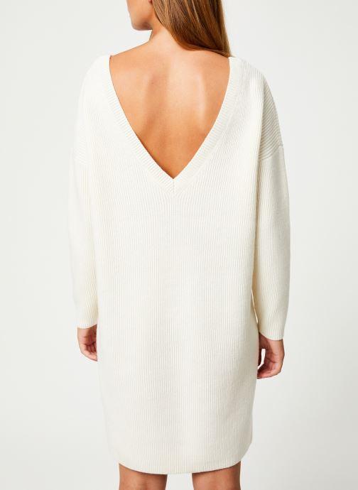 Vêtements Marie Sixtine DRESS SOLENN Blanc vue portées chaussures