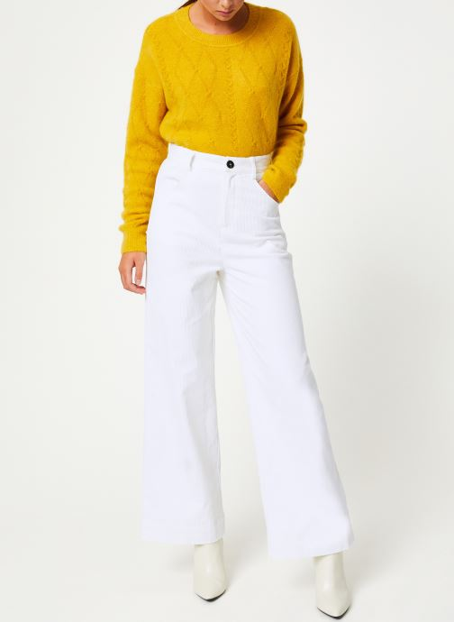 Vêtements Marie Sixtine PANTS GREGORY Blanc vue bas / vue portée sac