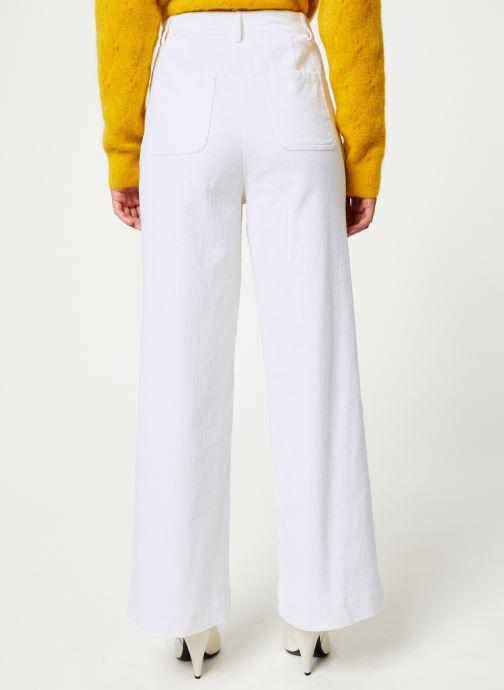 Vêtements Marie Sixtine PANTS GREGORY Blanc vue portées chaussures