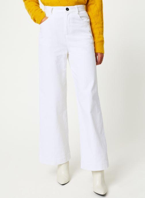 Vêtements Marie Sixtine PANTS GREGORY Blanc vue détail/paire