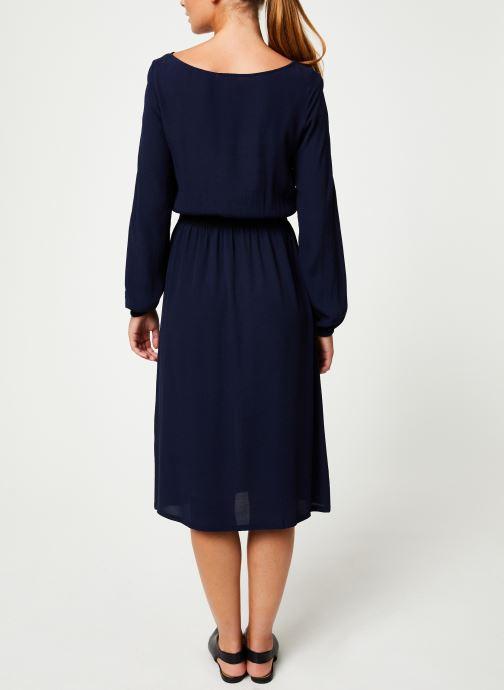 Vêtements Marie Sixtine DRESS MATHILDE Bleu vue portées chaussures