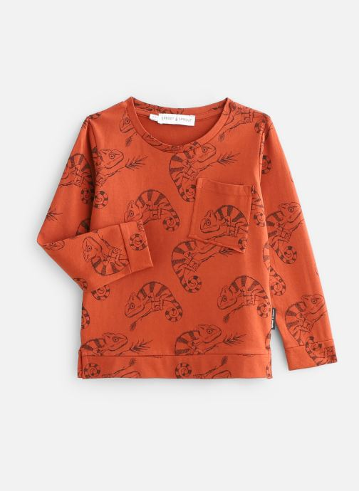 Vêtements Sproet & Sprout T-Shirt Chameleon Orange vue bas / vue portée sac