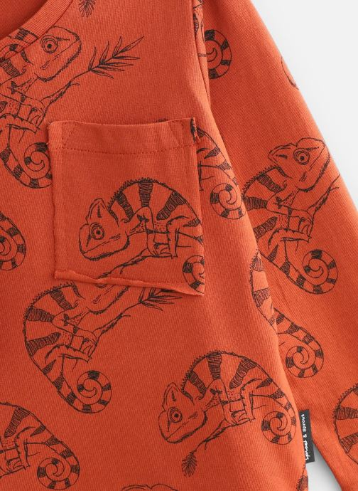 Kleding Sproet & Sprout T-Shirt Chameleon Oranje model