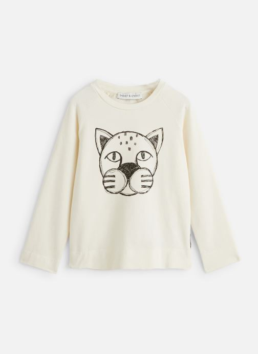 Vêtements Sproet & Sprout T-Shirt Panther Head Blanc vue détail/paire