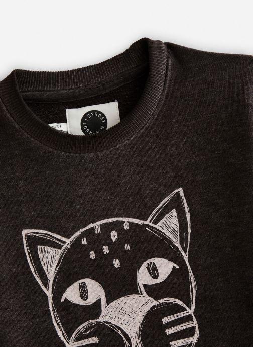 Vêtements Sproet & Sprout Sweatshirt Panther Head Noir vue portées chaussures