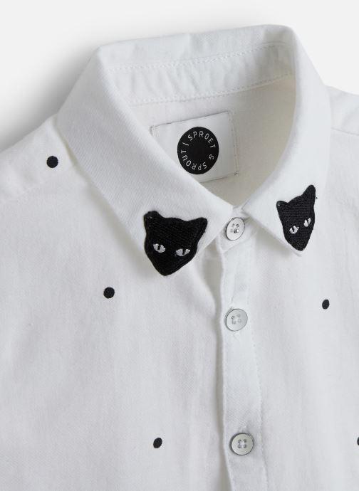 Vêtements Sproet & Sprout Woven Blouse Dots Blanc vue portées chaussures