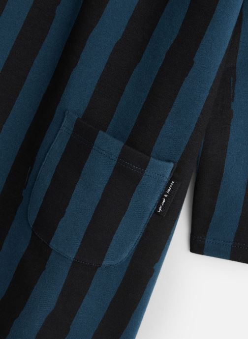 Kleding Sproet & Sprout Sweat Dress Painted Stripe Blauw model