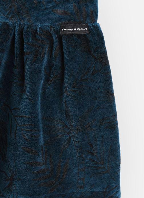Vêtements Sproet & Sprout Velvet Skirt Tropical Bleu vue portées chaussures