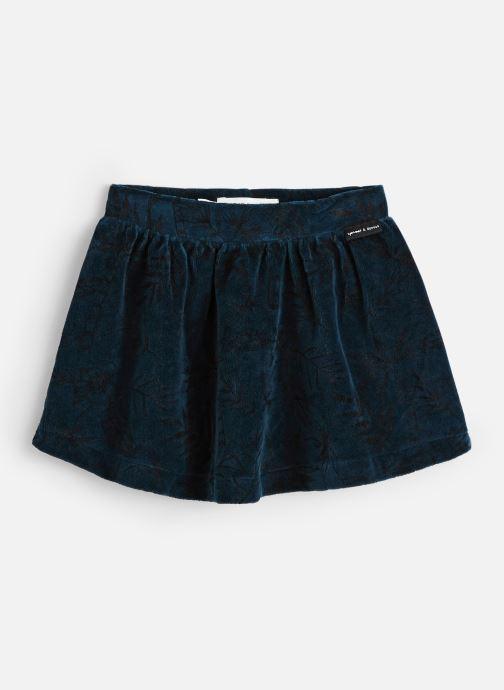 Vêtements Sproet & Sprout Velvet Skirt Tropical Bleu vue détail/paire