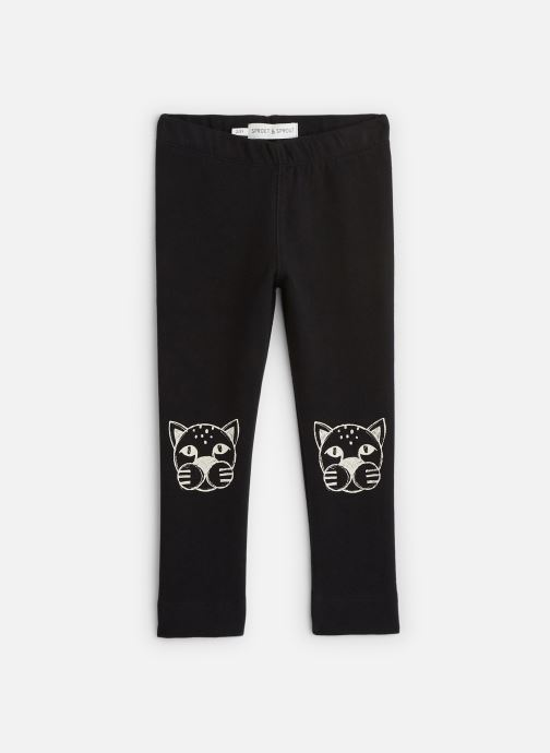 Vêtements Sproet & Sprout Sweat Legging Panther Head Noir vue détail/paire