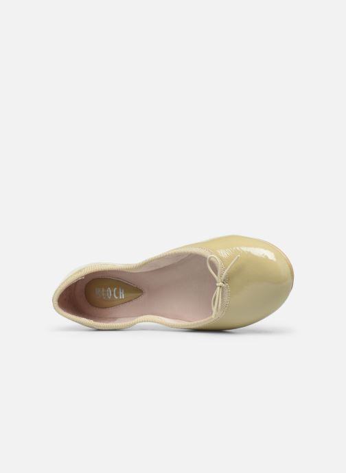 Ballet pumps Bloch Cha Cha Beige view from the left