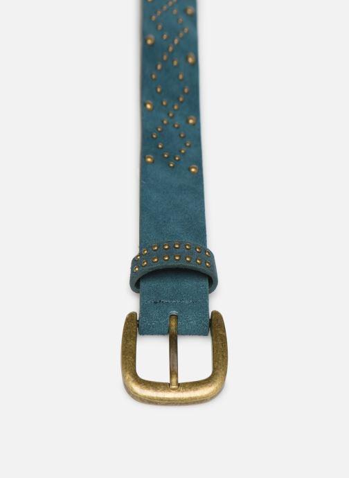 Ceintures Pieces HUJIA SUEDE JEAN BELT Bleu vue portées chaussures
