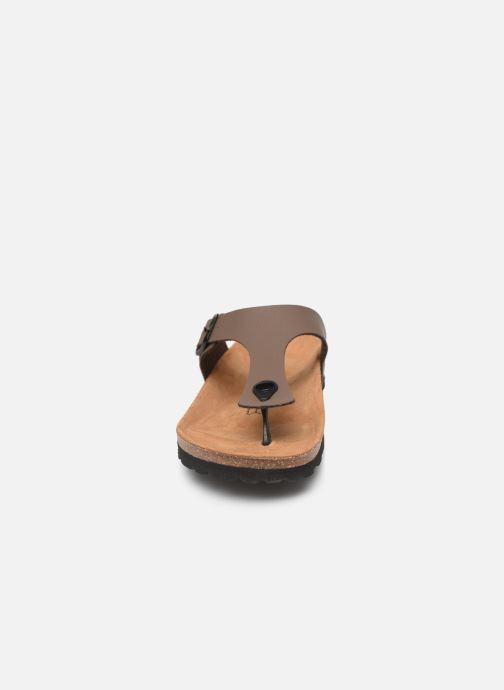 Sandales et nu-pieds Bayton Mercure Marron vue portées chaussures