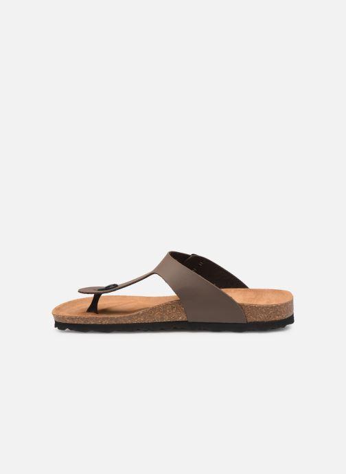 Sandales et nu-pieds Bayton Mercure Marron vue face