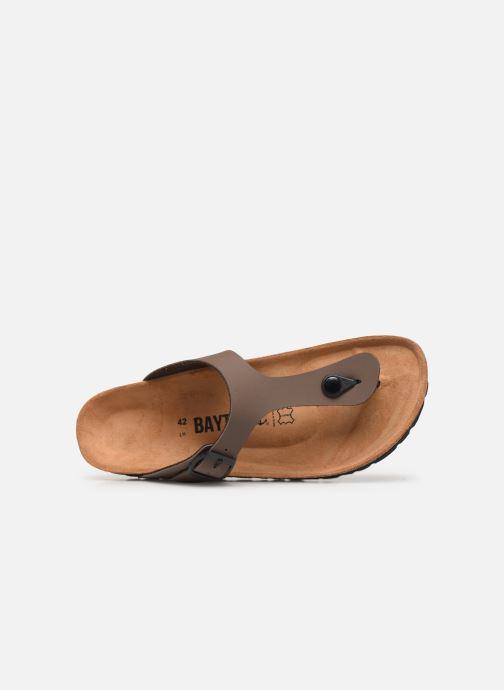 Sandales et nu-pieds Bayton Mercure Marron vue gauche