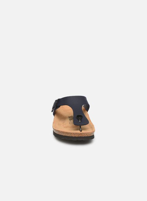 Sandales et nu-pieds Bayton Mercure Bleu vue portées chaussures