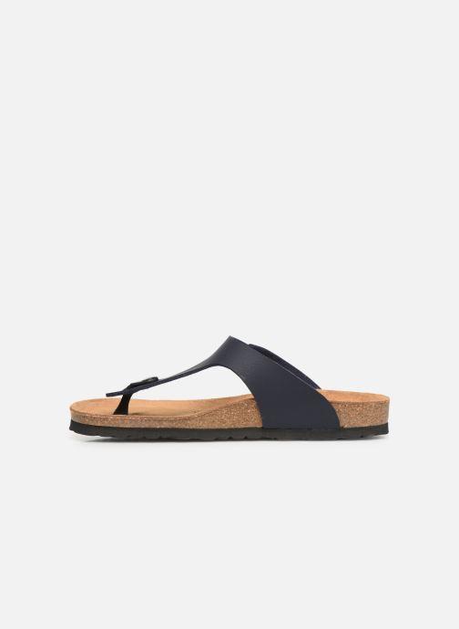 Sandales et nu-pieds Bayton Mercure Bleu vue face
