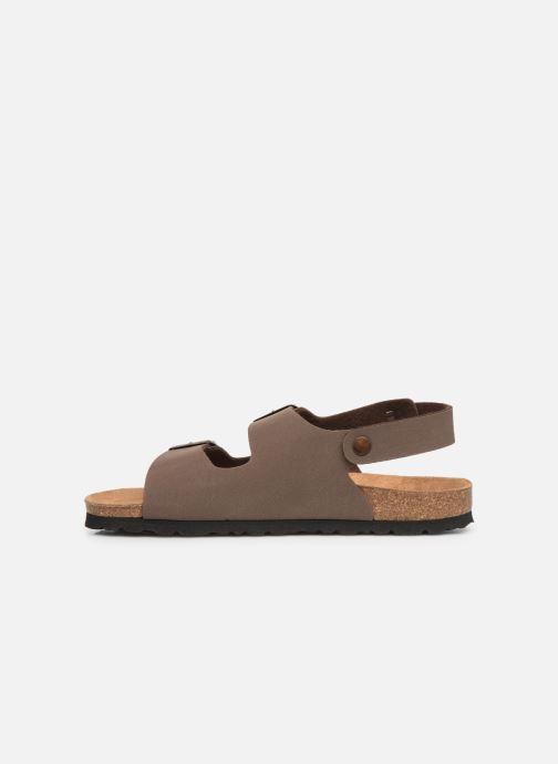 Sandals Bayton Achille Brown front view