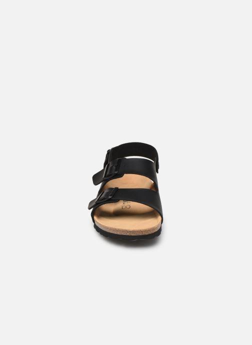 Sandales et nu-pieds Bayton Achille Noir vue portées chaussures