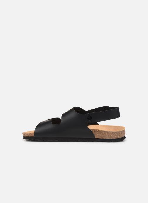 Sandales et nu-pieds Bayton Achille Noir vue face