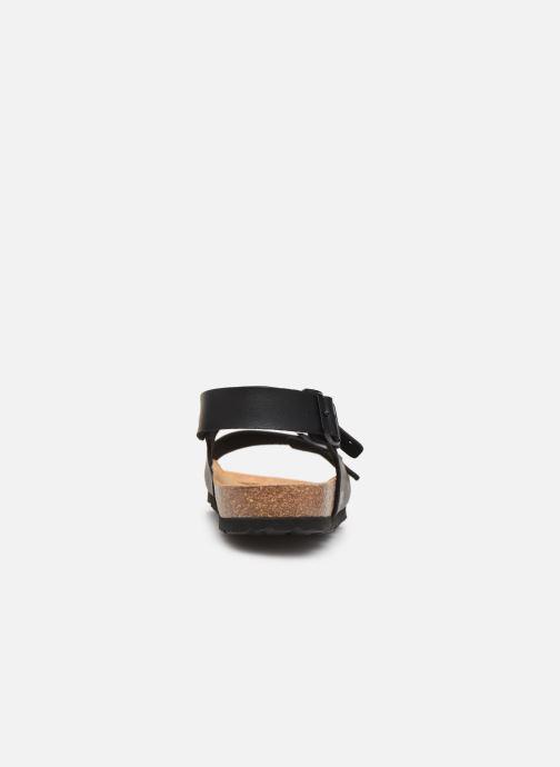 Sandales et nu-pieds Bayton Achille Noir vue droite