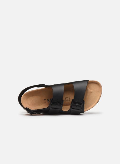 Sandales et nu-pieds Bayton Achille Noir vue gauche
