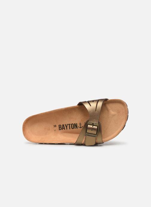 Mules et sabots Bayton Athena Or et bronze vue gauche