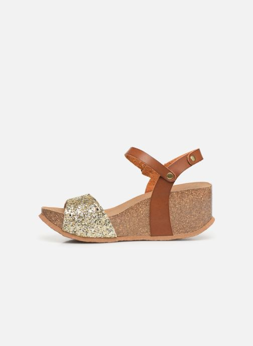 Sandales et nu-pieds Bayton Maya Marron vue face