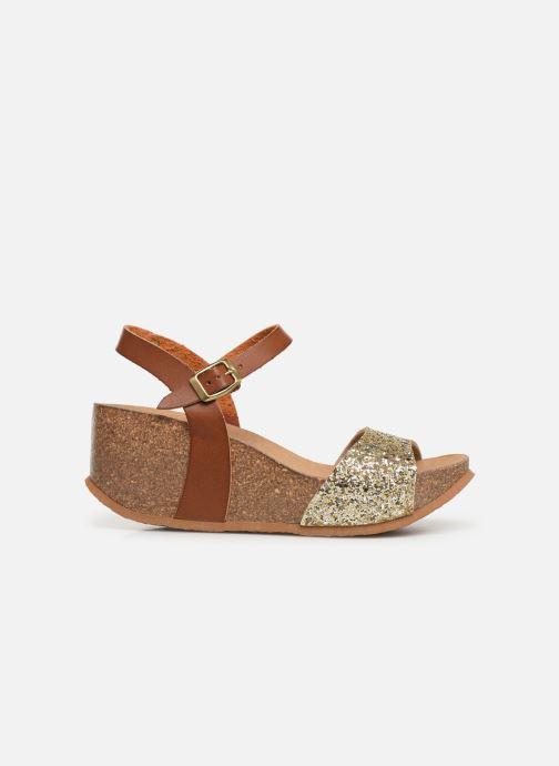 Sandales et nu-pieds Bayton Maya Marron vue derrière