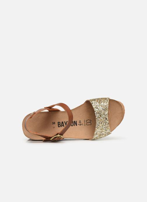 Sandales et nu-pieds Bayton Maya Marron vue gauche