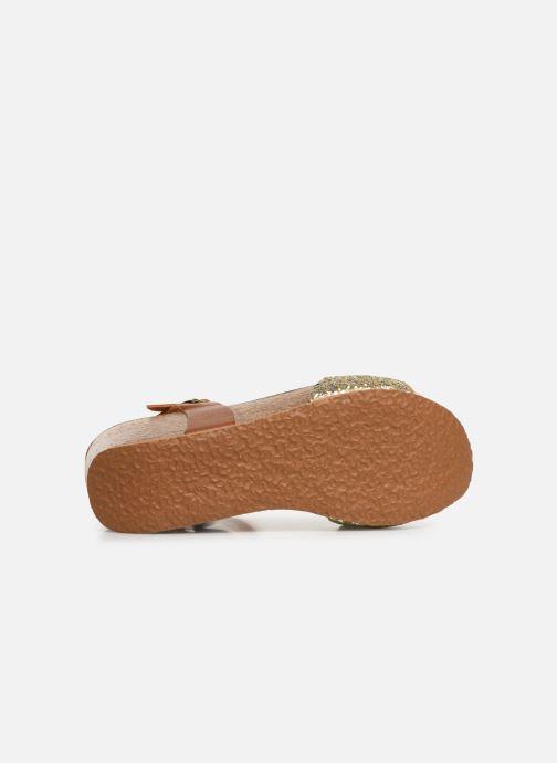 Sandales et nu-pieds Bayton Maya Marron vue haut