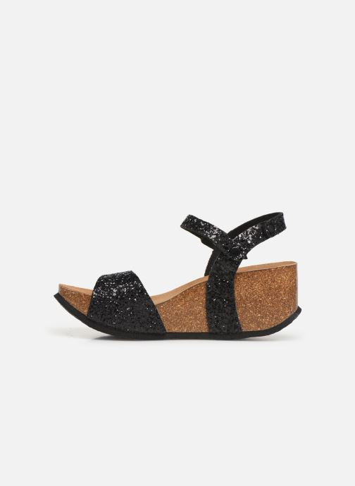 Sandales et nu-pieds Bayton Maya Noir vue face