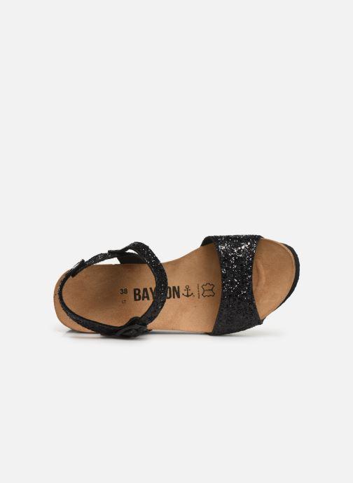 Sandales et nu-pieds Bayton Maya Noir vue gauche